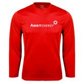Syntrel Performance Red Longsleeve Shirt-