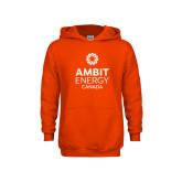 Youth Orange Fleece Hoodie-Ambit Energy Canada