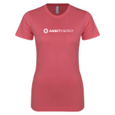 Next Level Ladies SoftStyle Junior Fitted Pink Tee-Ambit Energy
