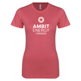 Next Level Ladies SoftStyle Junior Fitted Pink Tee-Ambit Energy Canada