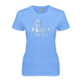 Ladies Sky Blue T-Shirt-Foil