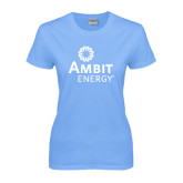 Ladies Sky Blue T-Shirt-