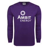 Purple Long Sleeve T Shirt-