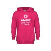 Youth Raspberry Fleece Hoodie-Ambit Energy Canada