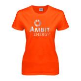 Ladies Orange T Shirt-Foil