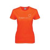 Ladies Orange T Shirt-Sequins