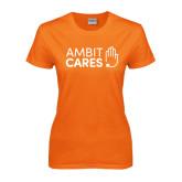 Ladies Orange T Shirt-Ambit Cares