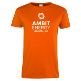 Ladies Orange T Shirt-Ambit Energy Japan