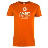 Ladies Orange T Shirt-Ambit Energy Canada