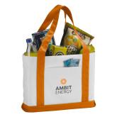 Contender White/Orange Canvas Tote-Ambit Energy