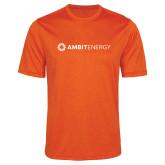 Performance Orange Heather Contender Tee-Ambit Energy