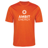Performance Orange Heather Contender Tee-Ambit Energy
