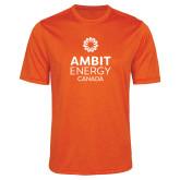 Performance Orange Heather Contender Tee-Ambit Energy Canada