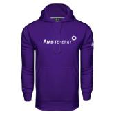 Under Armour Purple Performance Sweats Team Hood-