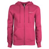ENZA Ladies Fuchsia Fleece Full Zip Hoodie-Ambit Energy