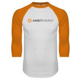 White/Orange Raglan Baseball T Shirt-Ambit Energy