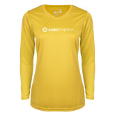 Ladies Syntrel Performance Gold Longsleeve Shirt-Ambit Energy