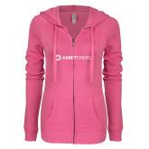 ENZA Ladies Hot Pink Light Weight Fleece Full Zip Hoodie-Ambit Energy
