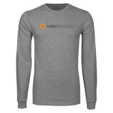 Grey Long Sleeve T Shirt-Ambit Energy