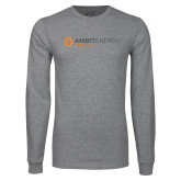 Grey Long Sleeve T Shirt-Ambit Energy Japan