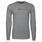 Grey Long Sleeve T Shirt-Ambit Energy Japan