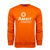 Orange Fleece Crew-