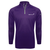 Under Armour Purple Tech 1/4 Zip Performance Shirt-