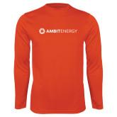 Performance Orange Longsleeve Shirt-Ambit Energy