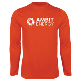 Syntrel Performance Orange Longsleeve Shirt-Ambit Energy