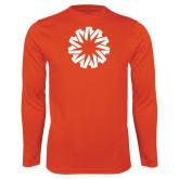 Syntrel Performance Orange Longsleeve Shirt-Spark