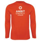Performance Orange Longsleeve Shirt-Ambit Energy Canada