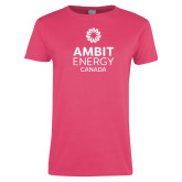 Ladies Fuchsia T Shirt-Ambit Energy Canada