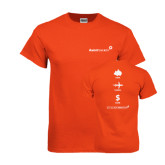 Orange T Shirt-Save Travel Earn