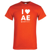 Orange T Shirt-I Heart AE