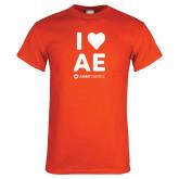 Orange T Shirt-I Heart AE