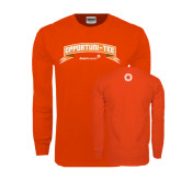 Orange Long Sleeve T Shirt-Opportuni Tee