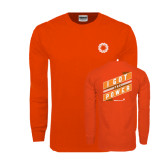 Orange Long Sleeve T Shirt-I Got The Power