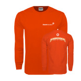 Orange Long Sleeve T Shirt-My Friends Pay My Energy Bill
