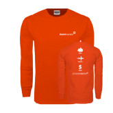 Orange Long Sleeve T Shirt-Save Travel Earn