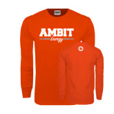 Orange Long Sleeve T Shirt-Collegiate Ambit Energy