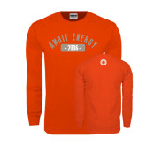 Orange Long Sleeve T Shirt-Ambit Energy 2006