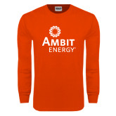 Orange Long Sleeve T Shirt-