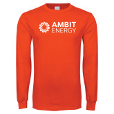 Orange Long Sleeve T Shirt-Ambit Energy