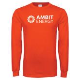 Orange Long Sleeve T Shirt-Ambit Energy