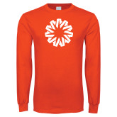 Orange Long Sleeve T Shirt-Spark