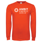 Orange Long Sleeve T Shirt-Ambit Energy Japan