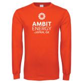 Orange Long Sleeve T Shirt-Ambit Energy Japan