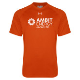 Under Armour Orange Tech Tee-Ambit Energy Japan