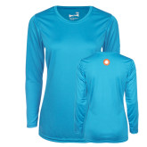 Ladies Syntrel Performance Light Blue Longsleeve Shirt-Spark