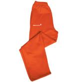 Champion PowerBlend Orange Fleece Open Bottom Pant-
